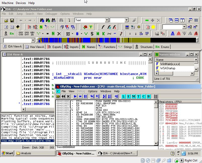 Дизассемблер - транслятор, преобразующий машинный код, объектный файл