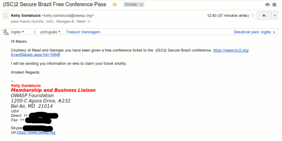 ISC)2 Secure Brazil conference